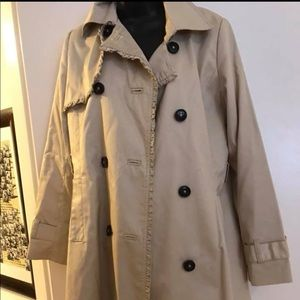 Long Trench Coat Rain Jacket